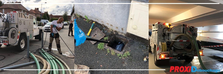 Curage de canalisation à Aubry-du-Hainaut