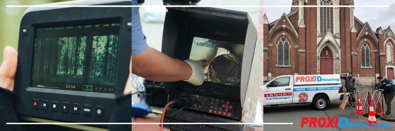 inspection par vidéo caméra de canalisations à Mont-Bernanchon 62350