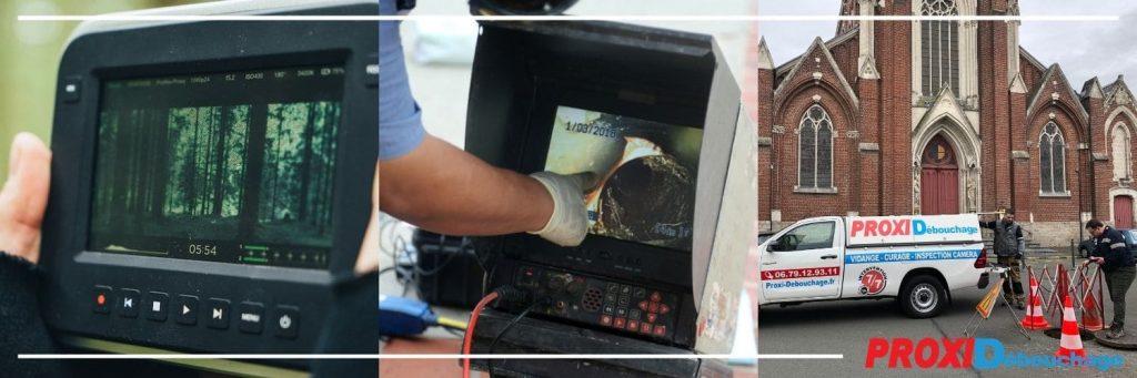 inspection par vidéo caméra de canalisations à Sailly-sur-la-Lys 62840
